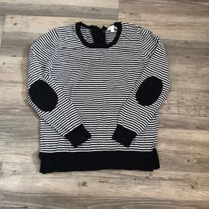 Black and Whit Striped Sweater - Size M